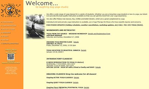 Laughing Dog Yoga Web Site
