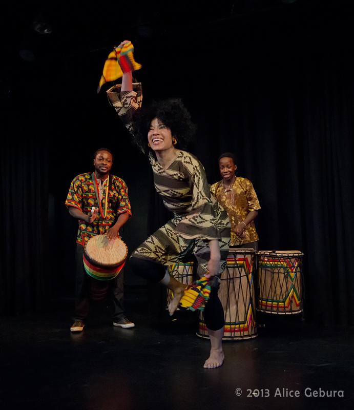 Duniya Drum and Dance, Drummers: Fode Bangoura, Fara Bangoura; Dancer: Cynthia Matthews