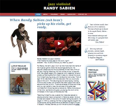 Randy Sabien, old web site