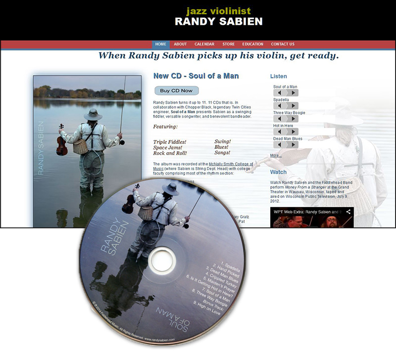 Randy Sabien, new web site
